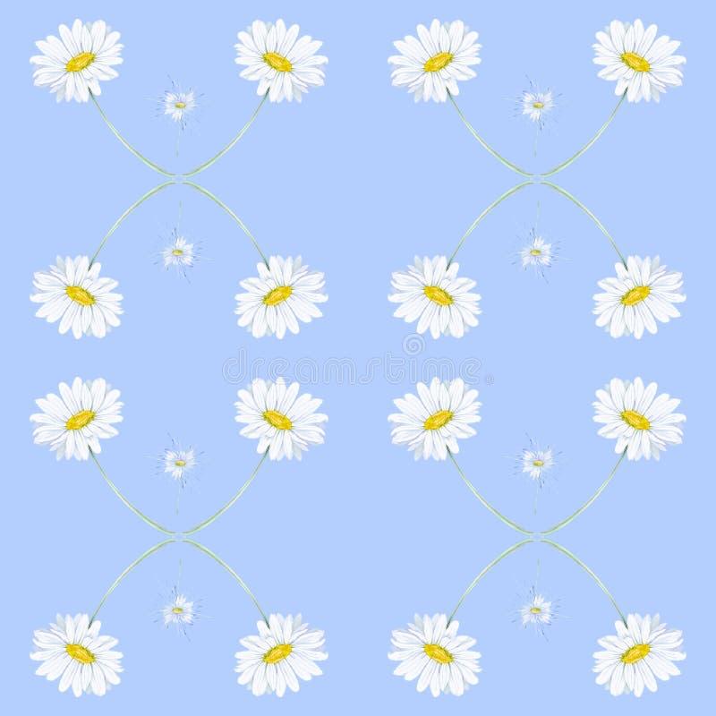 Абстрактная иллюстрация акварели стоцветов Изолировано на голубой предпосылке картина безшовная иллюстрация штока
