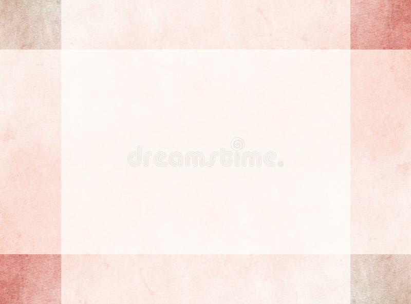 Абстрактная идея проекта Тонкая яркая красная граница grunge с более темными угловыми квадратами иллюстрация штока