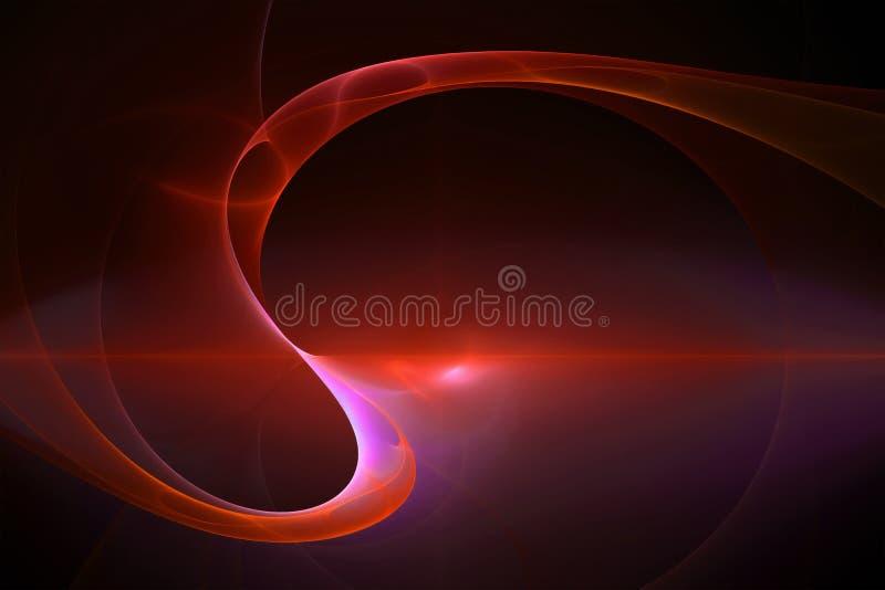 Абстрактная красная предпосылка, странное светлое зарево в темноте стоковое изображение rf