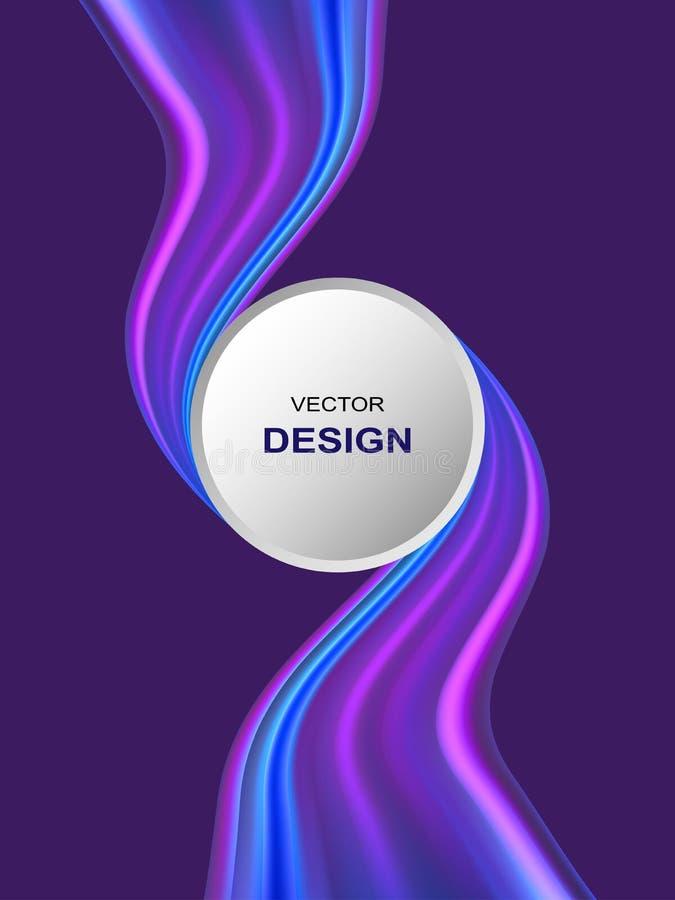 Абстрактная красочная предпосылка вектора, волна подачи цвета жидкостная для брошюры дизайна, вебсайта, рогульки бесплатная иллюстрация