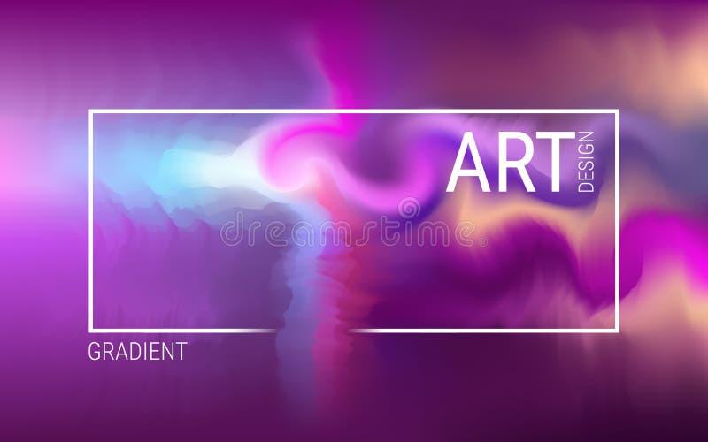 абстрактная предпосылка футуристическая Дизайн вектора современный с голографическим цветом Динамические яркие градиенты иллюстрация вектора