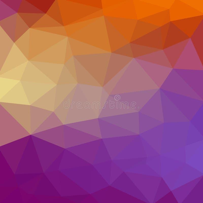 Абстрактная полигональная предпосылка мозаики также вектор иллюстрации притяжки corel предпосылка градиента Мульти-цвета низкая п иллюстрация штока