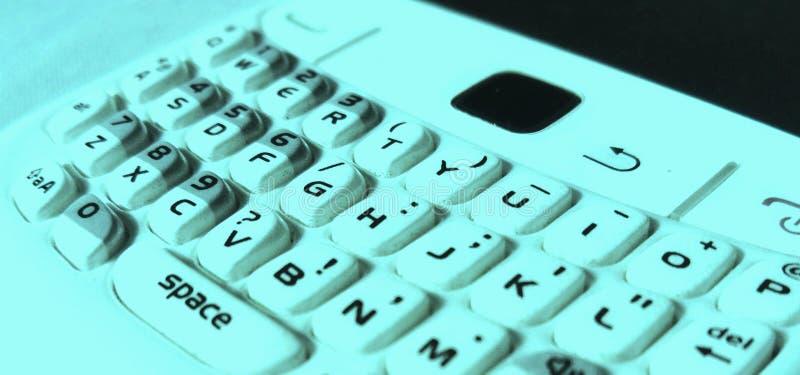 Абстрактная умная клавиатура сотового телефона стоковое фото