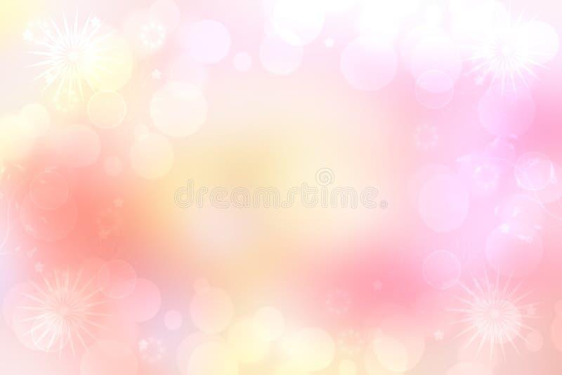 Абстрактная розовая предпосылка весны или цветка лета Абстрактная яркая предпосылка цветка с красивыми розовыми цветками и космос иллюстрация вектора
