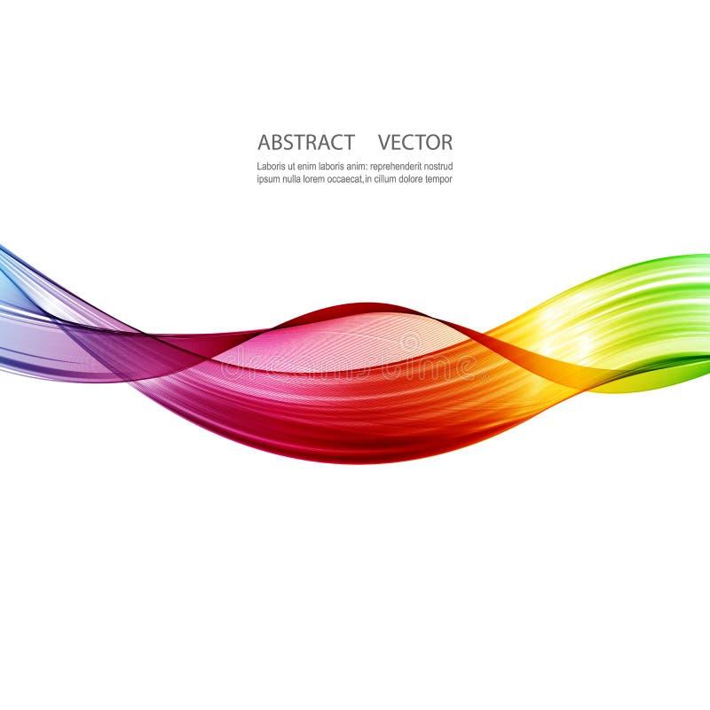 Абстрактные красочные линии пропускать волны изолированный на белой предпосылке иллюстрация вектора