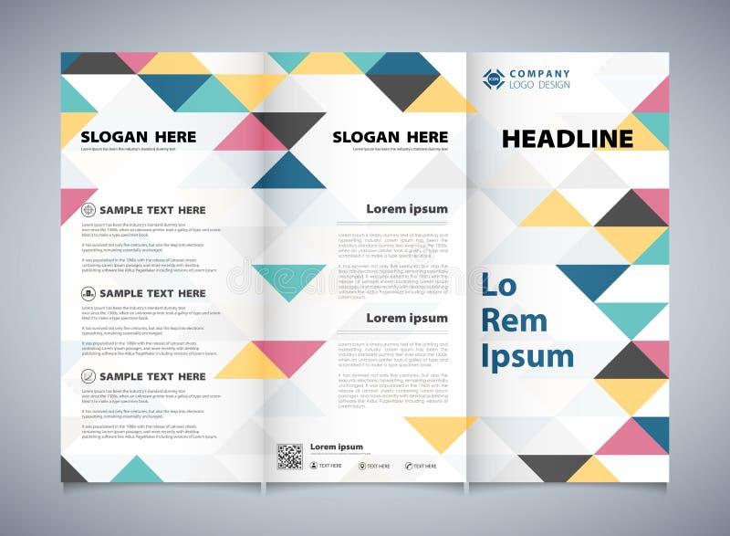 Абстрактные красочные треугольники делают по образцу корпоративное брошюры дела Вы можете использовать для дизайна листовки брошю иллюстрация штока