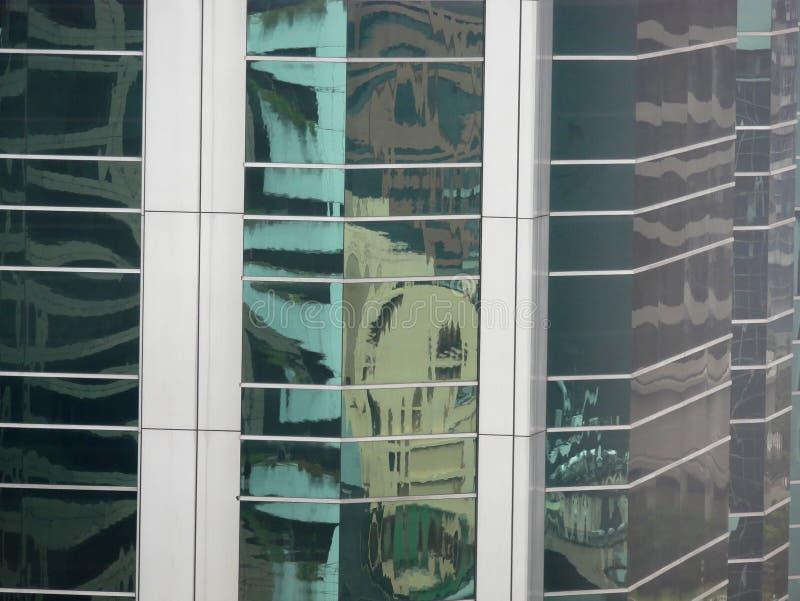 Абстрактные отражения зданий стоковое фото rf