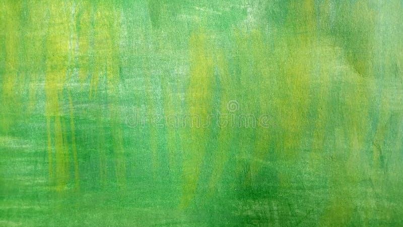 Абстрактный зеленый фон акварели с затрапезным желтым цветом иллюстрация вектора