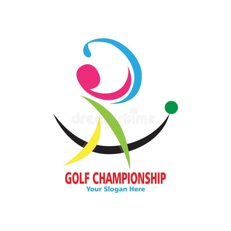 Абстрактный красочный логотип гольфа иллюстрация вектора