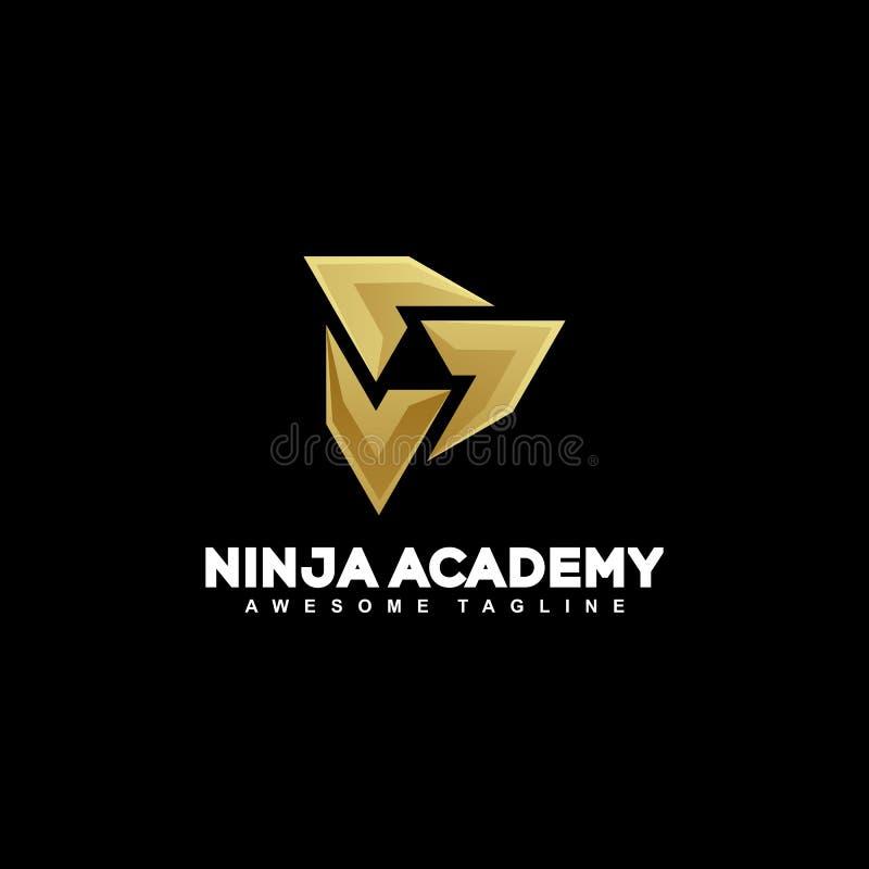 Абстрактный шаблон вектора иллюстрации концепции Ninja бесплатная иллюстрация
