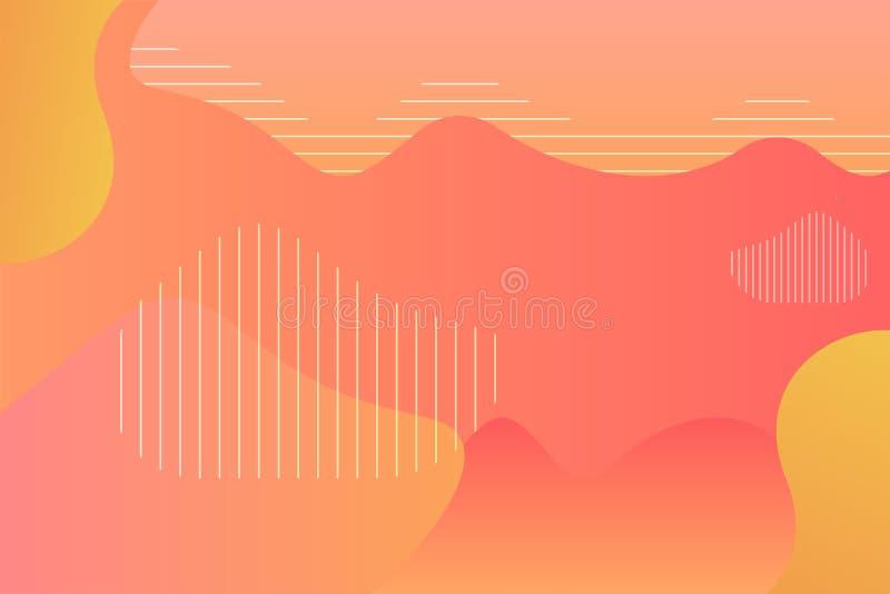 Абстрактный шаблон предпосылки градиента жидкая предпосылка, геометрическая предпосылка иллюстрация вектора
