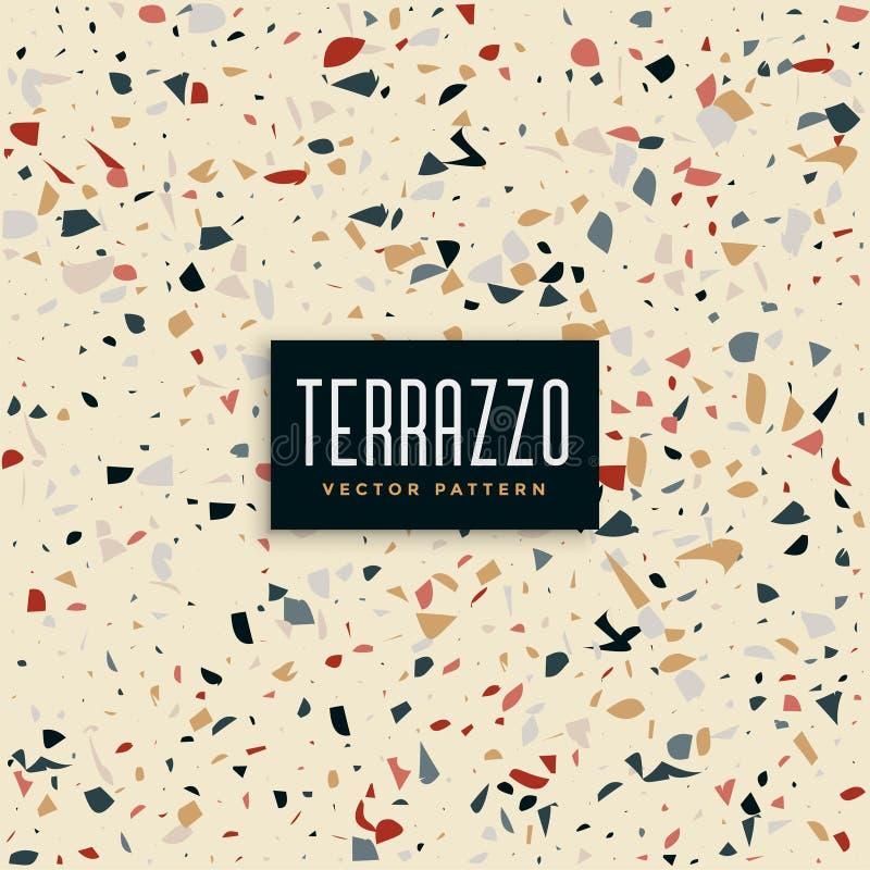 Абстрактный terrazzo кроет предпосылку черепицей картины бесплатная иллюстрация