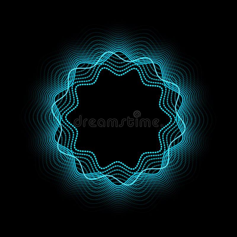 Абстрактное неоновое знамя Светя и накаляя неоновое влияние также вектор иллюстрации притяжки corel иллюстрация штока
