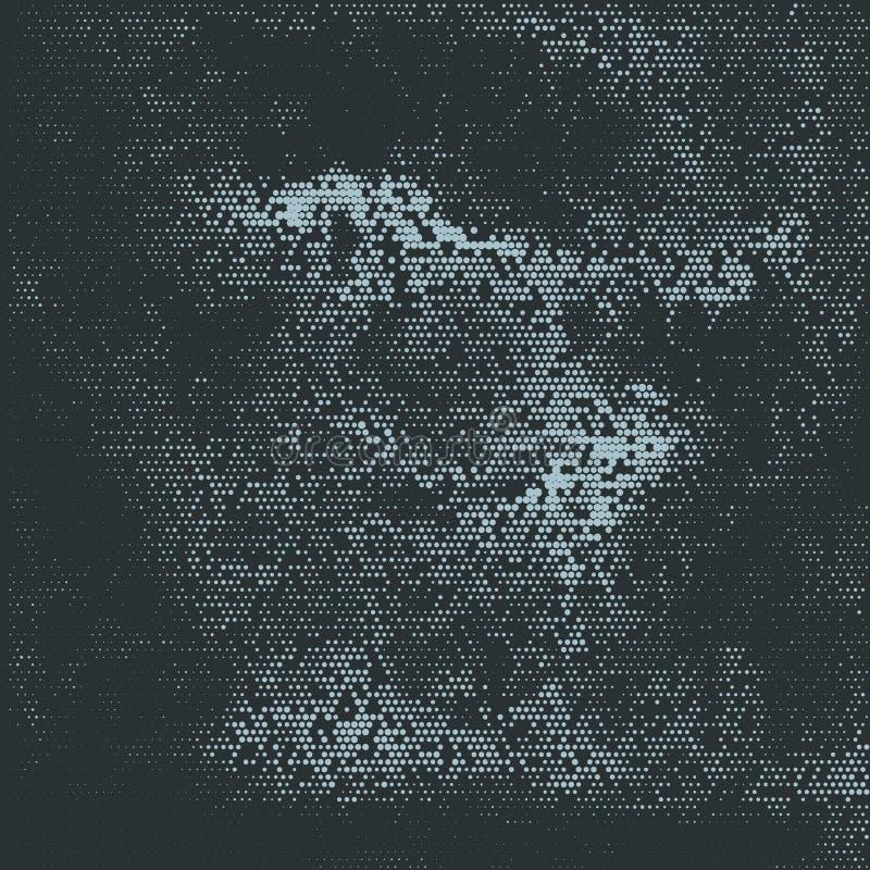 Абстрактное полутоновое изображение ставит точки предпосылка иллюстрация вектора