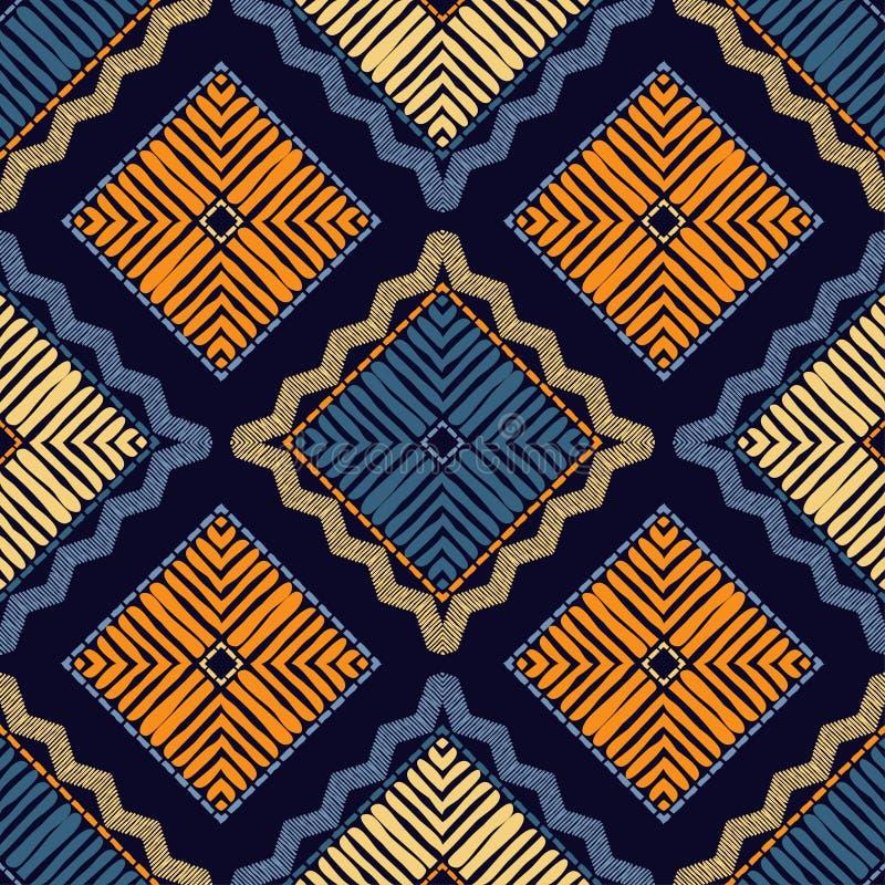 Ethnic boho seamless pattern. Patchwork texture. Weaving. Traditional ornament. Tribal pattern. Folk motif. stock photography