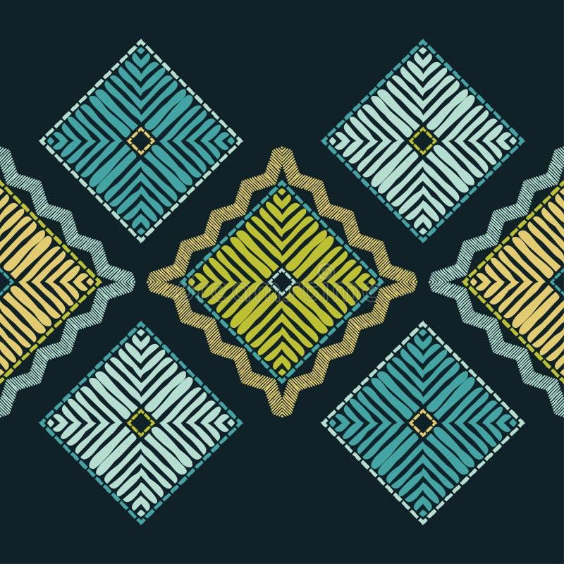 Ethnic boho seamless pattern. Patchwork texture. Weaving. Traditional ornament. Tribal pattern. Folk motif. royalty free stock image