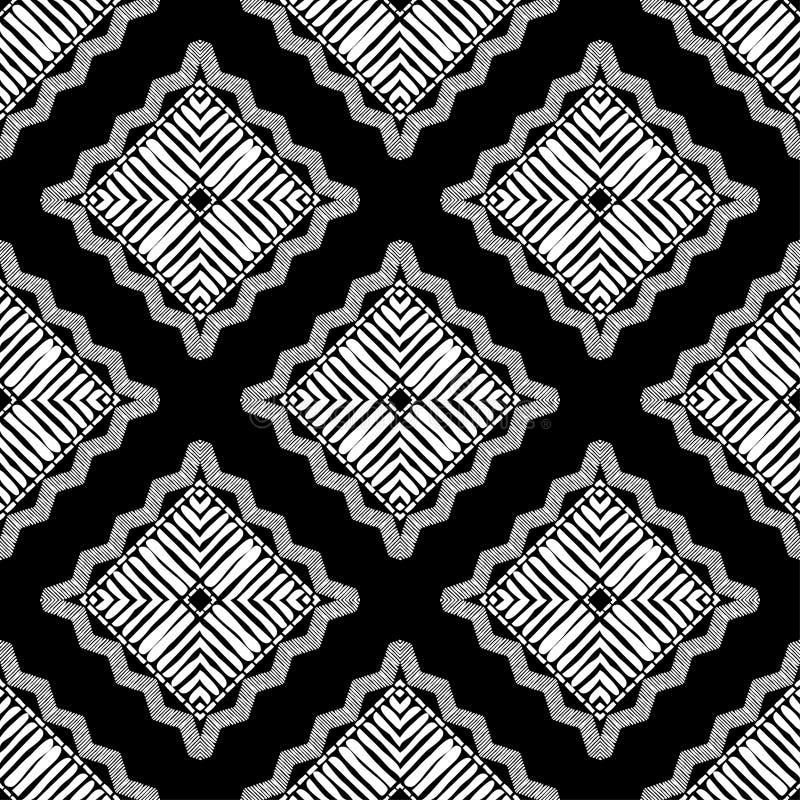 Ethnic boho seamless pattern. Patchwork texture. Weaving. Traditional ornament. Tribal pattern. Folk motif. royalty free stock photo