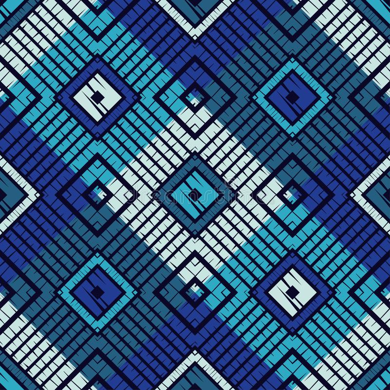 Trendy seamless pattern designs. Mosaic of quadrangles with the old texture. Vector geometric background. royalty free stock photos