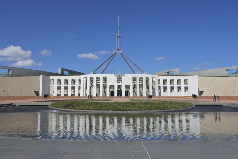 Австралийский дом парламента в Канберре стоковая фотография rf