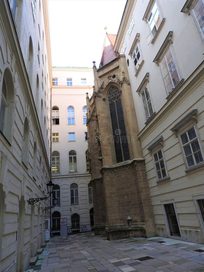 Австрия, Вена, восхитительная архитектура каменных стен зданий стоковое фото