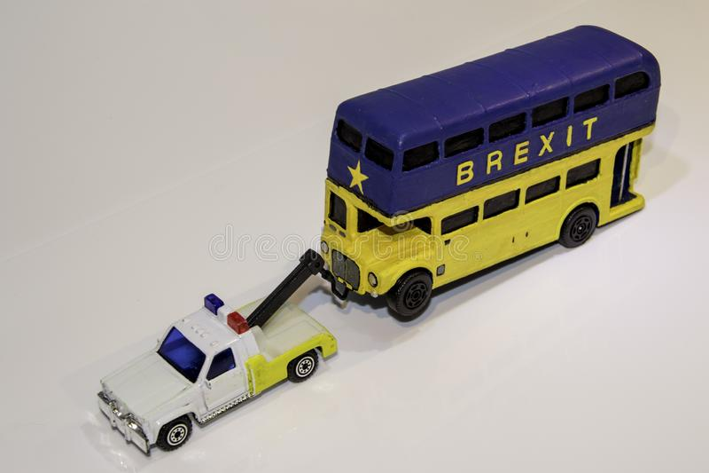 Автобус Brexit стоковые изображения