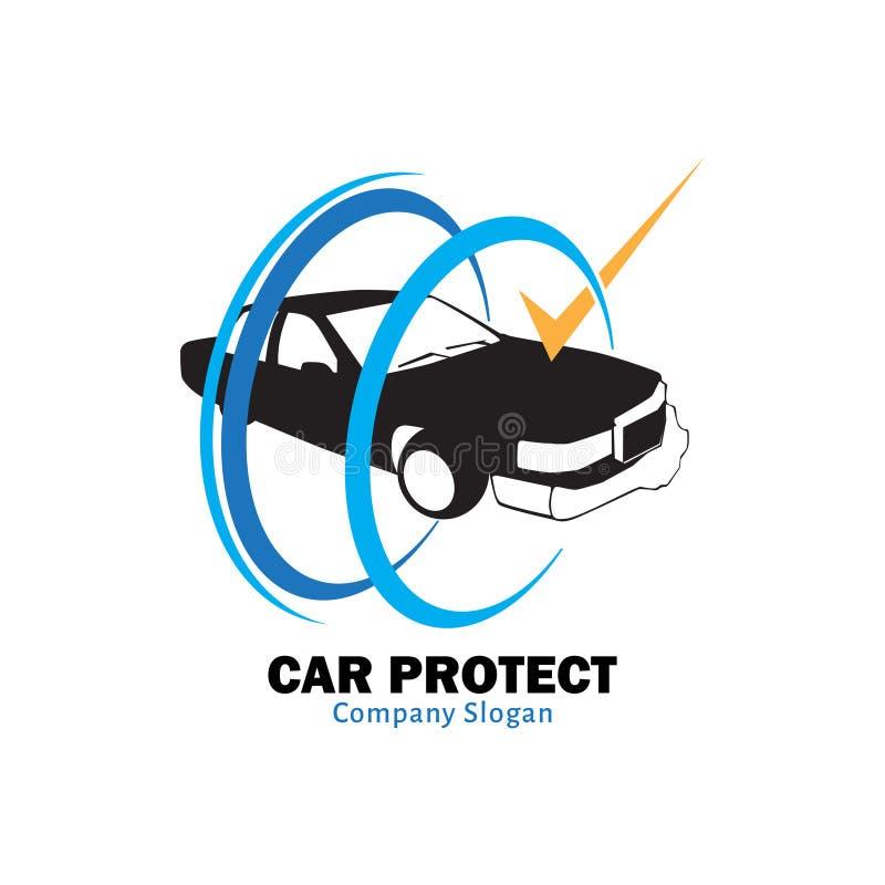 Автомобиль защитить для страховой компании иллюстрация штока