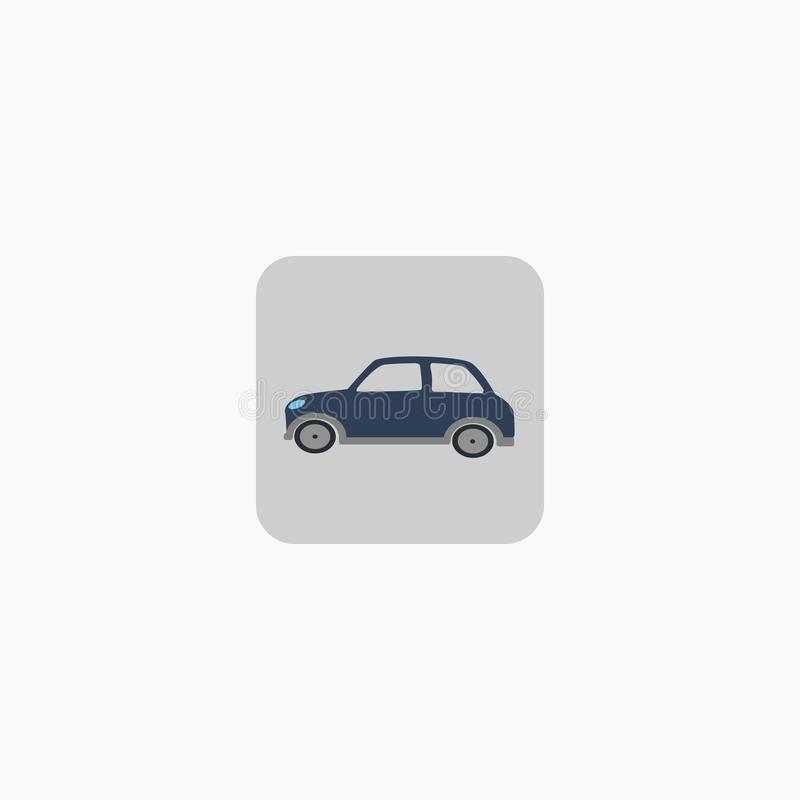 Автомобиль логос икона автомобиль малый также вектор иллюстрации притяжки corel 10 eps бесплатная иллюстрация