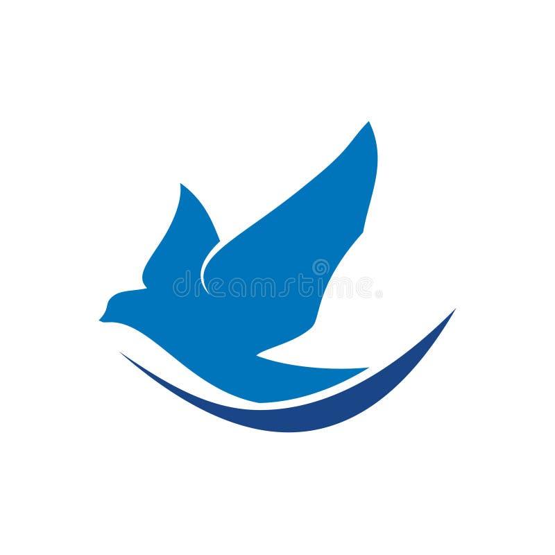 Агент летания птицы голубя голубя логотипа мира иллюстрация вектора