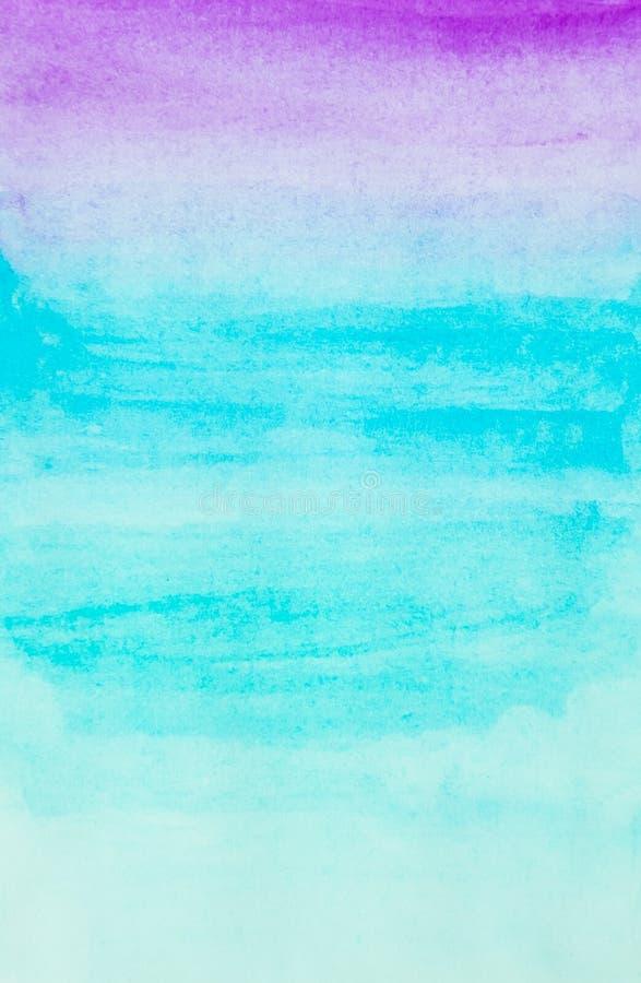 Акварель в пурпурном и голубом цвете для конспекта и предпосылки стоковые фото