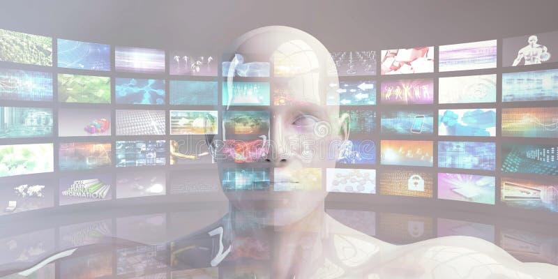 Аналитик цифров выходя на рынок видео- бесплатная иллюстрация
