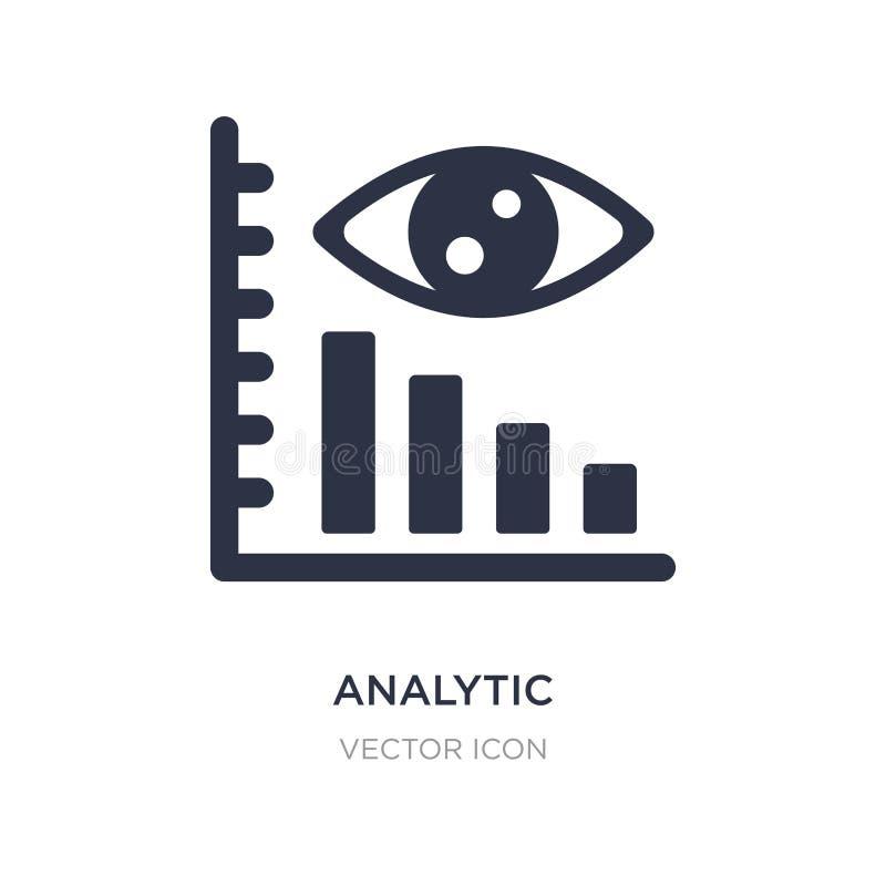 аналитический значок визуализирования на белой предпосылке Простая иллюстрация элемента от концепции дела и аналитика иллюстрация вектора