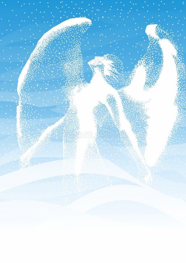 Ангел снега иллюстрация вектора