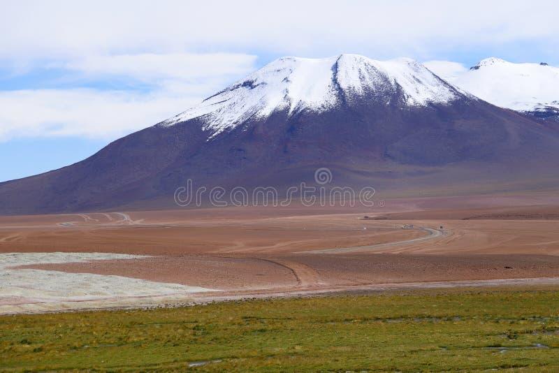 Андийские гористые местности, пустыня Atacama, Чили стоковые фото