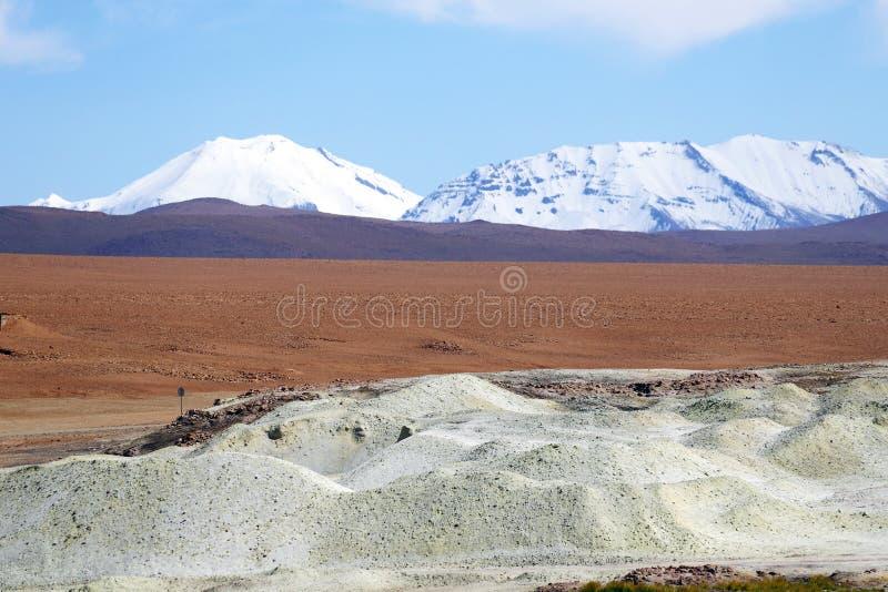 Андийские гористые местности, пустыня Atacama, Чили стоковая фотография rf