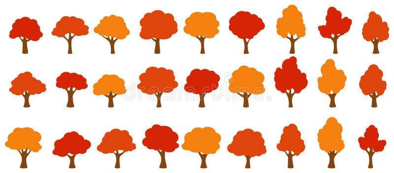 Апельсиновые деревья сада мультфильма иллюстрация вектора