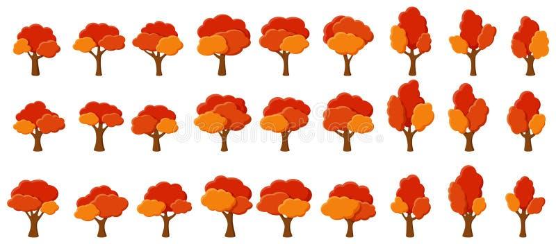 Апельсиновые деревья сада мультфильма иллюстрация штока