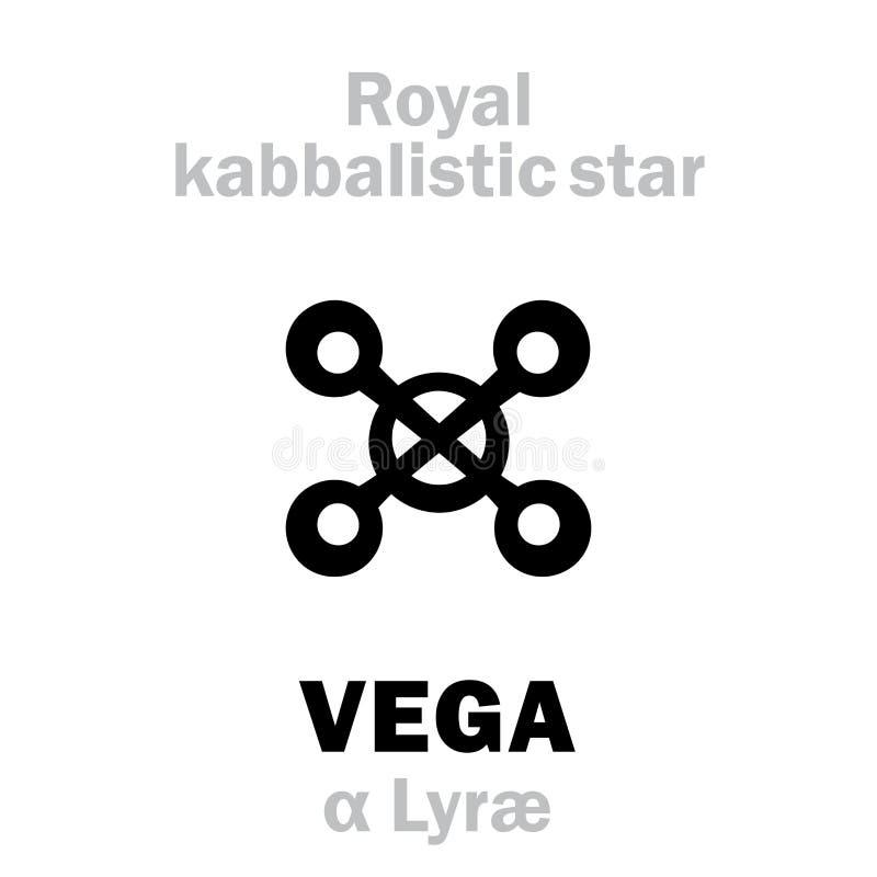 Астрология: VEGA королевская звезда Behenian kabbalistic иллюстрация вектора