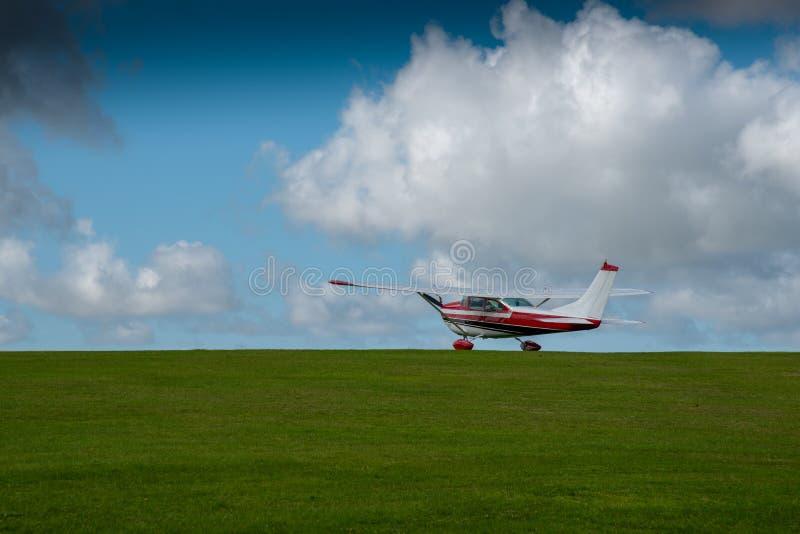 Аэроплан стоянки в Bodmin стоковое фото rf