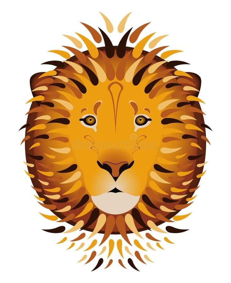африканский львев Тип шаржа Изолировано на белизне бесплатная иллюстрация