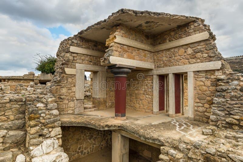 Археологические раскопки Knossos, Крит, Греция стоковые фотографии rf