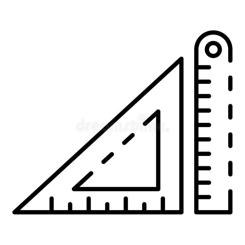 Архитектурноакустический значок правителя, стиль плана бесплатная иллюстрация