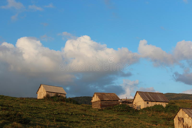 А village in the Eastern Carpathians stock photography