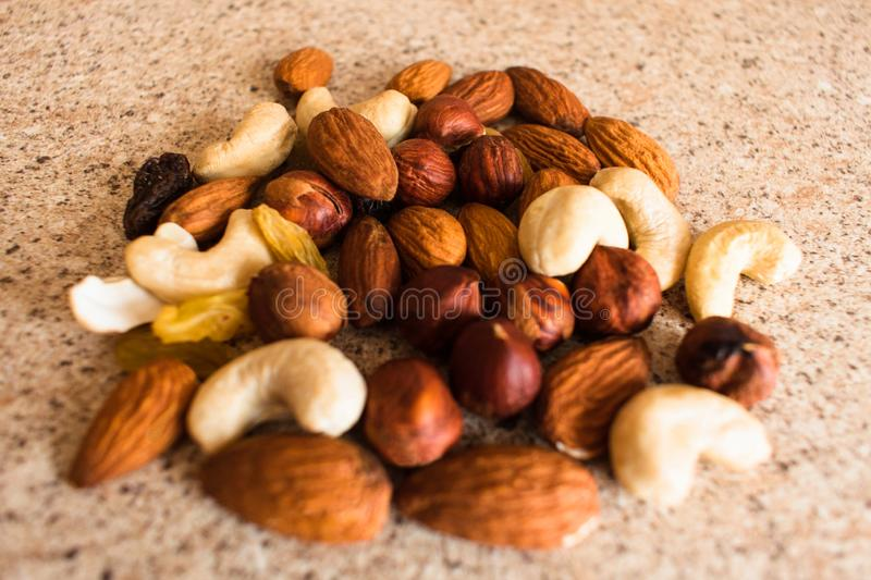 Аssorted nuts royalty free stock photo