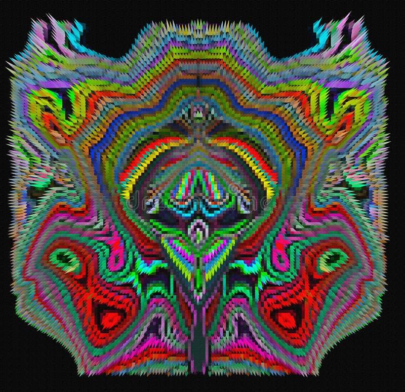 Бабочка прессованная конспектом экзотическая иллюстрация вектора