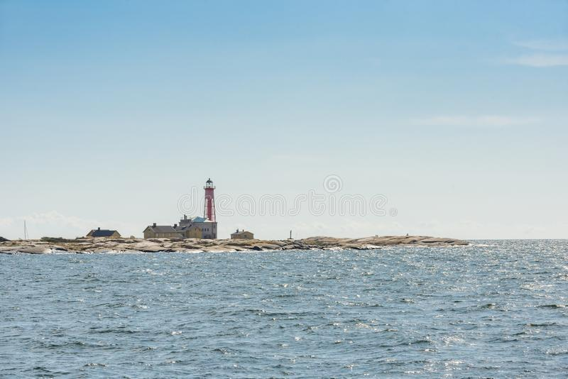 Балтийское море Швеция маяка Utklippan стоковое фото