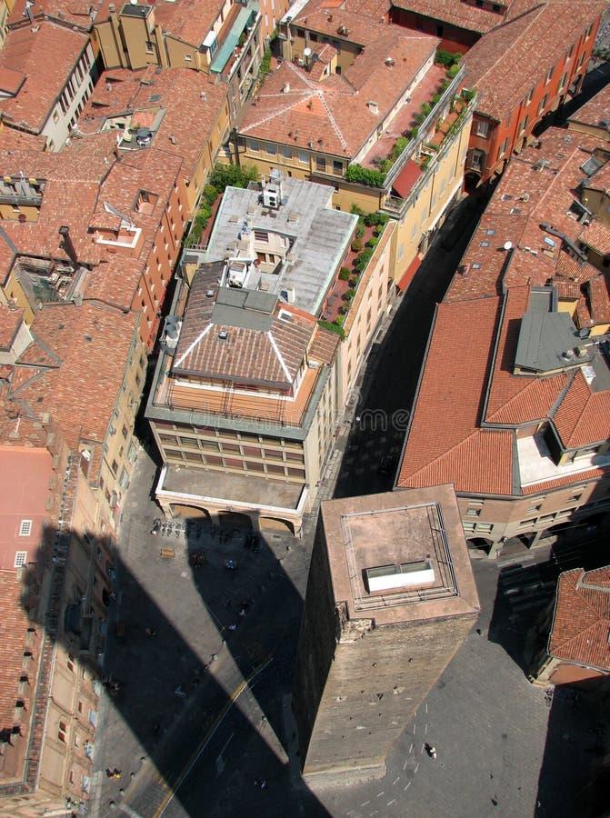 Башни Близнецы болонья, Италии - БОЛОНЬЯ - ИТАЛИЯ стоковое фото
