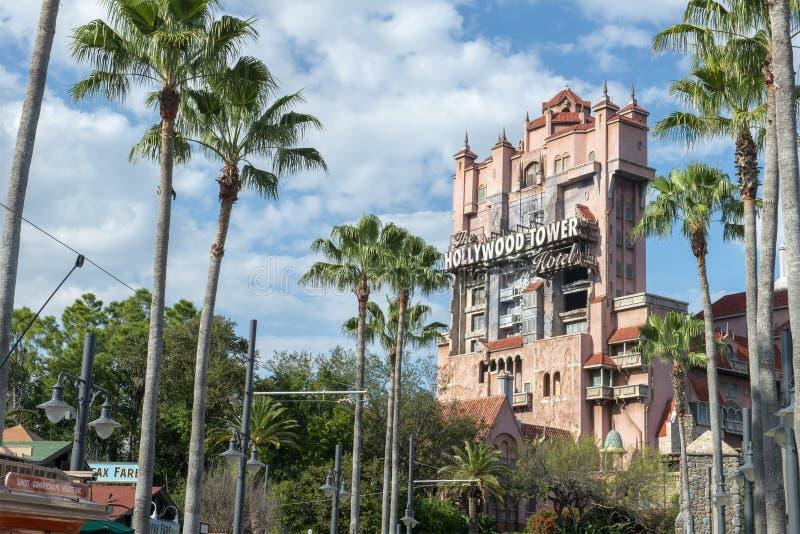 Башня террора, мир Дисней, перемещение, студии Голливуд стоковые фотографии rf