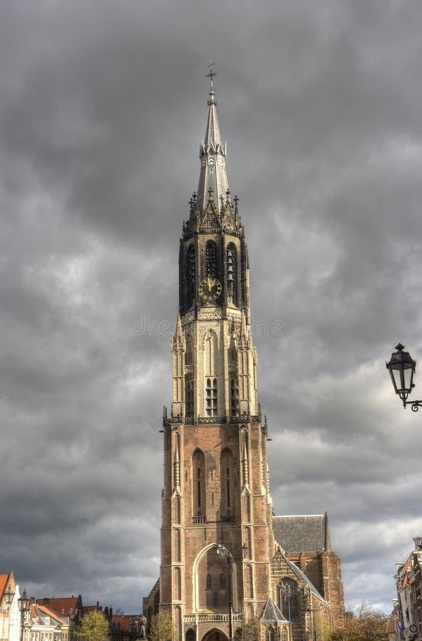 Башня церков Delft, Голландии стоковые изображения rf