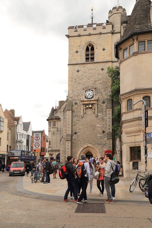 Башня Carfax в Оксфорде, Великобритании стоковое изображение