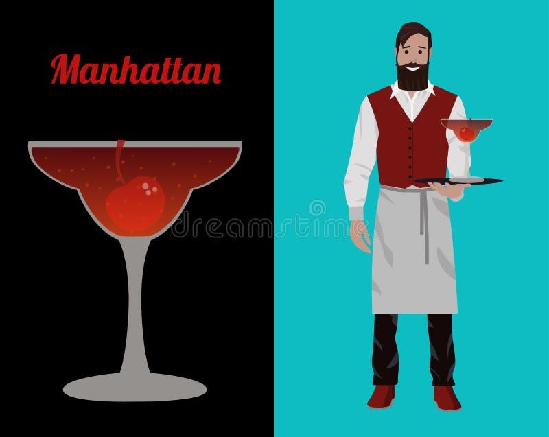 Бармены коктейля бесплатная иллюстрация